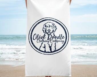 Golden Doodle Beach Towel