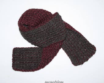 Double wool blend scarf