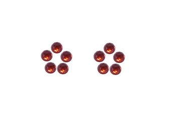 Red Garnet Pyrope Round Rose Cut Faceted Cabochons 3x3, 4x4, 5x5, 6x6 mm 100% Natural/Non-Heated/Non-Treated Gemstones For Designer Jewelry
