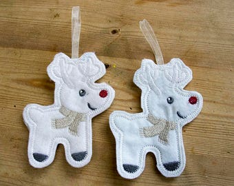 Pair of Reindeer Decorations