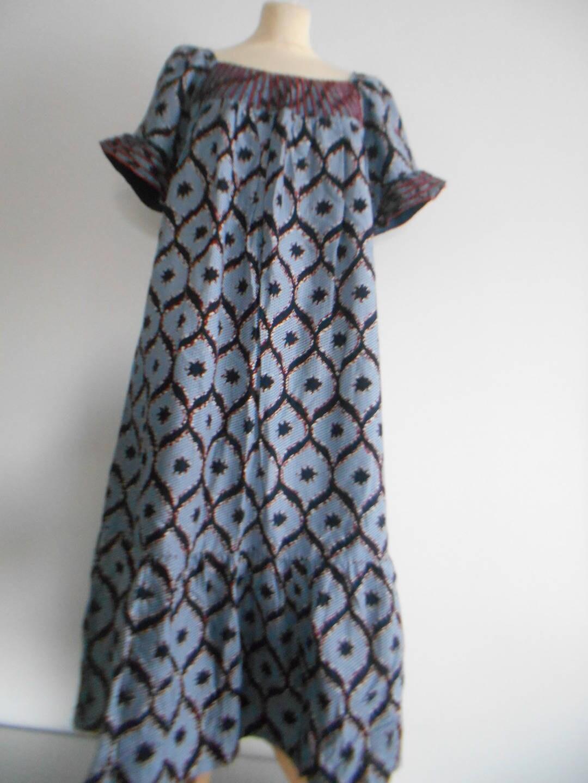 robe longue grande robe en waxpagne africain. Black Bedroom Furniture Sets. Home Design Ideas