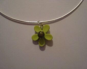 Rigid necklace Fleur Verte