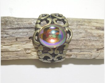 "Ring adjustable massive ""medieval autumn"""