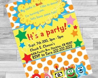 Yo Gabba Gabba! Birthday Invitation