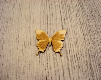 Engraved Butterfly 1216 embellishment wooden creations