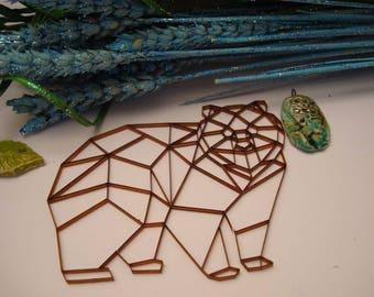 Bear origami 02053 embellishment wooden creations