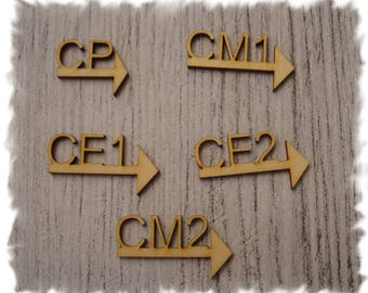 School 1026. the CM2 CP Word embellishment for your scrap page