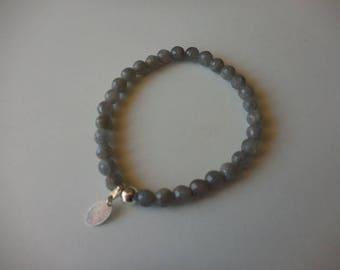 Labradorite bracelet 6 mm faceted round beads