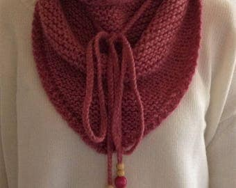 Pink scarf with beads