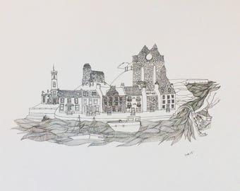 Arbroath Illustration Print