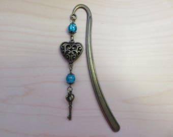 """Bronze bookmark """"Heart"""""""