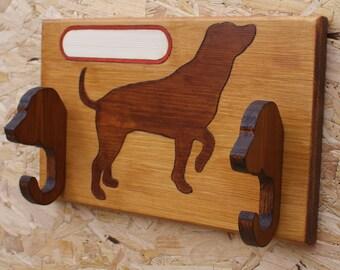 Handmade wooden 'DOG' accessory hanger_nameplate