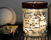 Night Light, Personalized Boys Gift, Firetruck, Fairy Lights, Night Light for Boys Room, Baby Shower Gift, Boys Birthday Gift, Boys Room
