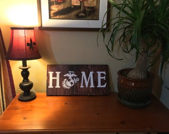 "Marine Corps ""HOME"" Sign"