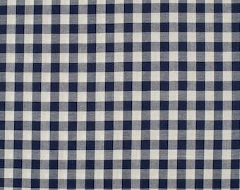 Marine5mm blue gingham fabric 100% cotton