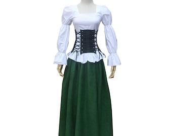 Halloween Blouse Renaissance Costumes for Women Top Blouse Shirt Theater Caribbean Pirate Renaissance Wench Medieval Costume