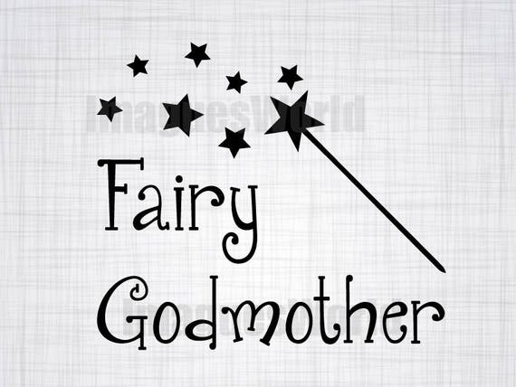 Fairy Godmother Svg Magic Svg Wand Svg Silhouette