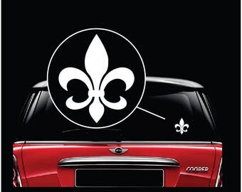Mardi Gras Fleur De Lis Car Window Decal Sticker