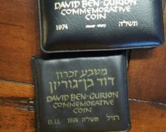 1974 ben gurion special commemorative 37 mm