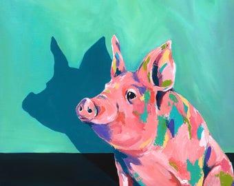 Pig in a Poke - Pig Illustration