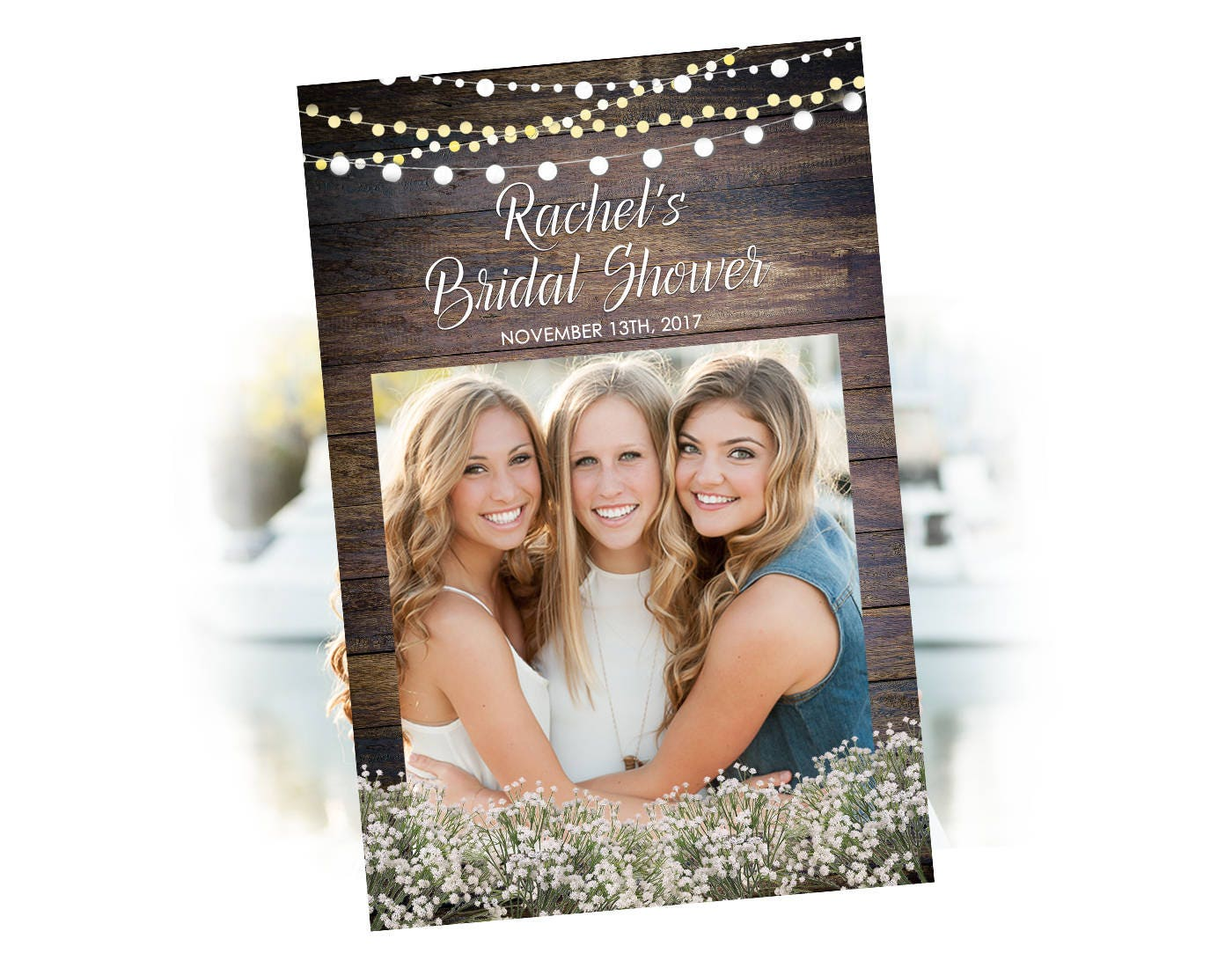 Photo Booth Prop Frame Rustic Bridal Shower Printable Photo Booth ...