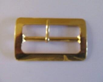 Loop closure for bag 62 mm X 38 mm, gold metal clasp