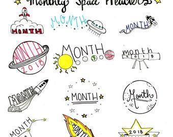 Space Bullet Journal Printable