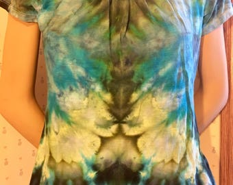 W S Ice Dye Thrifted T-Shirt