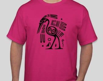 Tribal Bird Tattoo Men's and Women's  T-Shirt
