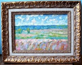 Original Impressionist Painting, Catalog Work Included, Impressionist Oil Painting, Landscape Oil Painting Robert Landarsky b. 1936