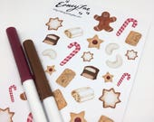 Christmas treats Stickerset-limited edition-watercolor sticker-pretty planning-scrapbooking-bullet journaling