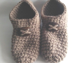 Mens crochet slippers size 11-13 USA, Indoor shoes, Socks with wool, Knitted Boot slipper Socks, Warm house shoes for men, Knitted slippers