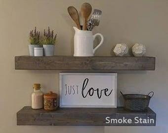 Floating Wood Shelves, Rustic Shelves, Floating Wood Shelf, Farmhouse Décor, Custom Wood Shelves, Rustic Wood Shelves