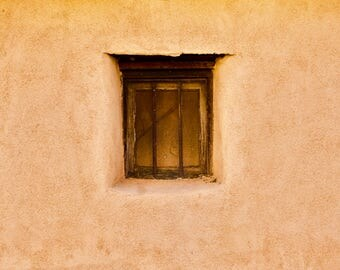 Adobe Window in Albuquerque New Mexico USA