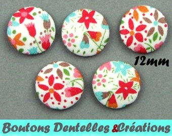 Buttons covered with Liberty - Eve C - 12mm
