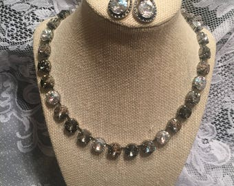 12mm Swarovski Crystal nexklace and earring set