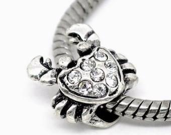 Pandora charm diamond silver crab pandora charm bracelets pandora charm necklace sterling silver  jewellery craft making