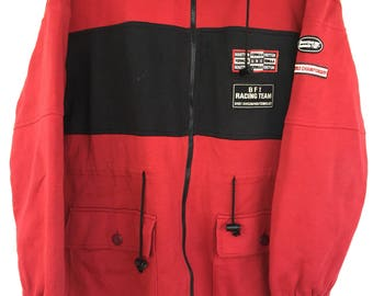 Vintage Benetton F1 Hoodies Patches Jacket