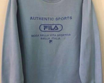 Rare!! Vintage Fila Big Logo Spellout Embroidery