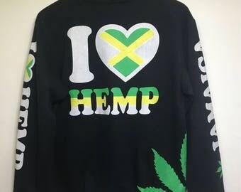 Vintage Jamaica Cannabis Fullprint Multicolour Sweatshirt