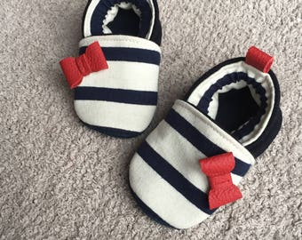 Slippers sailor knot in leather