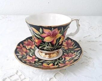 Vintage Royal Albert Provincial Flowers, Prairie Lily, porcelain teacup from 1975