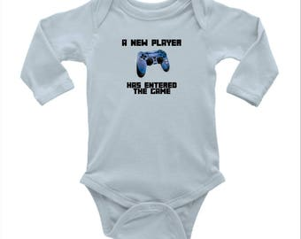 New Player has Entered the Game babygrow
