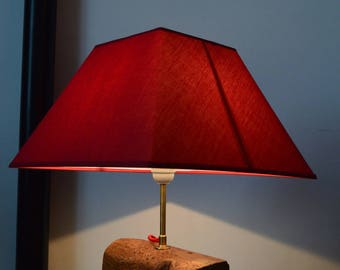 table lamp with solid oak base