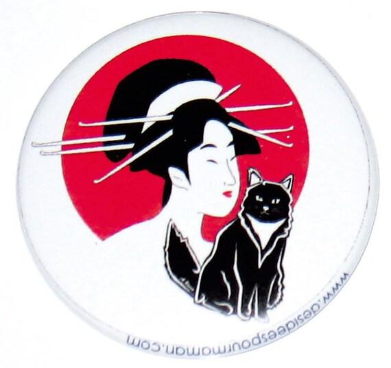 Miroir geisha et chats chat miroir de for Miroir des chats