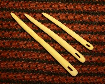 Needles for nalbinding / Set of 3 Knitting needles / Wooden needes / Medieval art / Viking needle / Wooden naalbinding needles / Ethno craft
