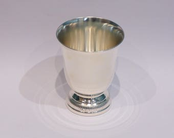 CHRISTOFLE GALLIA. Silver metal Tulip Cup. Mint condition