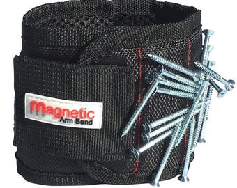 Magnetic Wristband Gift - 10 Strong Magnets embedded throughout wristband for holding nails, screws, fasteners, washers, and much more.