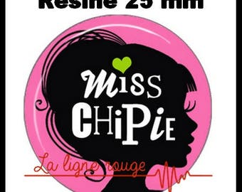 Cabochon resin 25 mm - Miss chipie stick (2412)