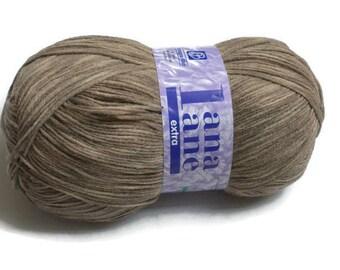 Big knitting yarn merino wool blend skein Stonewash beige Mashine wash Strickgarn Merinowolle-Mischung Farbverlauf  Beige | Laine á tricoter